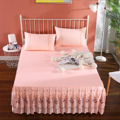 2020新款蕾丝床裙系列—蕾丝床裙(浪漫花都) 单品床裙150*200+45cm 浪漫花都(玉色)