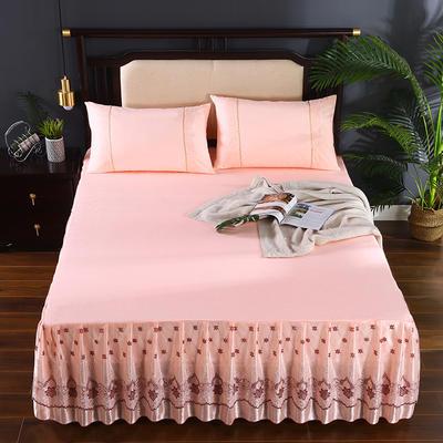 2020新款蕾丝床裙系列—蕾丝床裙(欧典之约) 单品床裙150*200+45cm 欧典之约(玉色)