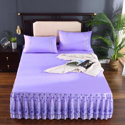 2020新款蕾丝床裙系列—蕾丝床裙(欧典之约) 单品床裙150*200+45cm 欧典之约(紫色)