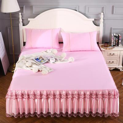 2020新款蕾丝床裙系列—蕾丝床裙(情调) 单品床裙150*200+45cm 情调-粉色