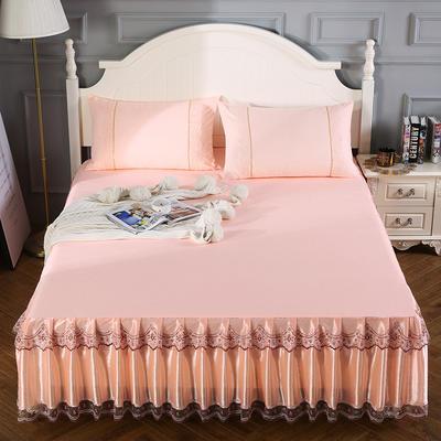 2020新款蕾丝床裙系列—蕾丝床裙(情调) 单品床裙150*200+45cm 情调-玉色