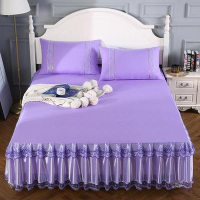2020新款蕾丝床裙系列—蕾丝床裙(情调) 单品床裙150*200+45cm 情调-紫色