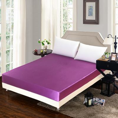 出口外贸 冰丝 真丝四件套单品(床笠),都可单卖 180cmx200cm 紫色