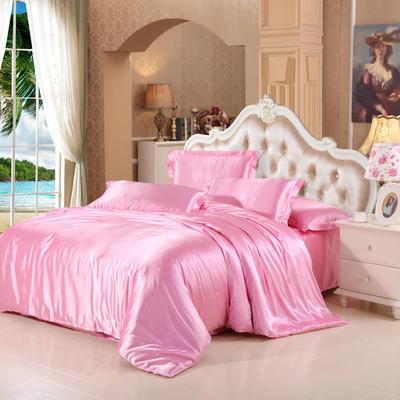 仿冰丝真丝单品(枕套) 48cmX74cm/一只 粉色