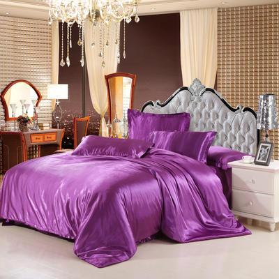 仿冰丝真丝单品(枕套) 48cmX74cm/一只 紫色