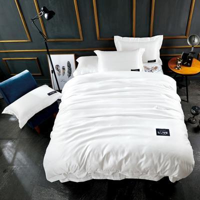 2018新款-新款臻品水洗真丝四件套 1.5m(5英尺)床 乳白