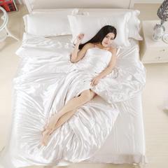 冰丝真丝四件套单品被套4个尺寸 150x200cm 白色