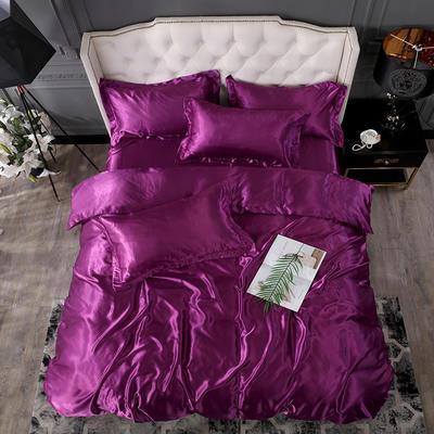 2020新款-冰丝真丝单品床笠(专供跨境电商亚马逊等 ,出口外贸定做 ) 120cmx200cm 紫色