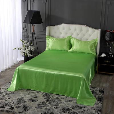 2020新款-冰丝真丝单品床单(专供跨境电商亚马逊等 ,出口外贸定做 ) 230cmx250cm 果绿