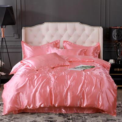 2019新款-冰丝真丝四件套,出口外贸 可卖单件 床单款1.8m(6英尺)床 玉色