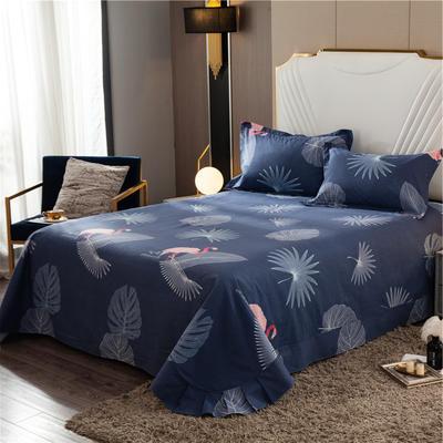 2020新款全棉活性生态磨毛纯棉单床单 180x240cm 火鸟