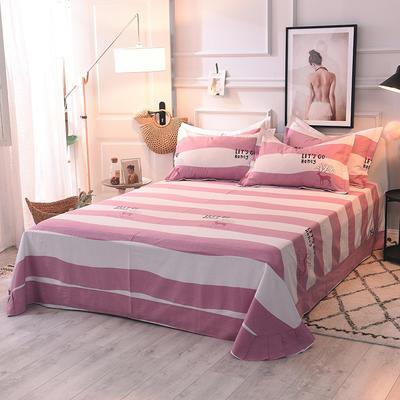 2020新款全棉活性生态磨毛纯棉单床单 180x240cm 爱的旅程
