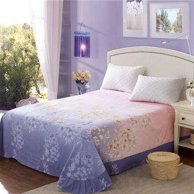 2020新款全棉活性生态磨毛纯棉单床单 180x240cm 国色天香