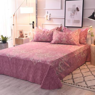 2020新款全棉活性生态磨毛纯棉单床单 180x240cm 海棠花语