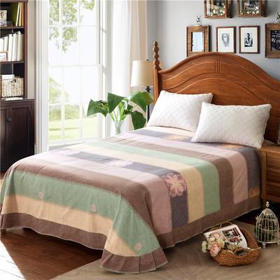 2020新款全棉活性生态磨毛纯棉单床单 180x240cm 花香韵彩