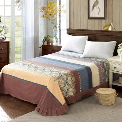 2020新款全棉活性生态磨毛纯棉单床单 180x240cm 华丽青春