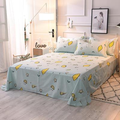 2020新款全棉活性生态磨毛纯棉单床单 180x240cm 乐柠