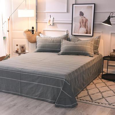 2020新款全棉活性生态磨毛纯棉单床单 180x240cm 欧陆风情灰