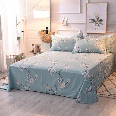 2020新款全棉活性生态磨毛纯棉单床单 180x240cm 浅春含香
