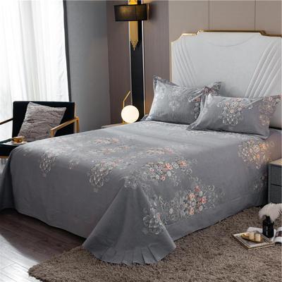2020新款全棉活性生态磨毛纯棉单床单 180x240cm 苏珊娜