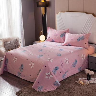 2020新款全棉活性生态磨毛纯棉单床单 180x240cm 悠然花香