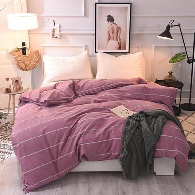 2020新款全棉活性生态磨毛纯棉单被套 180x200cm 欧陆风情红