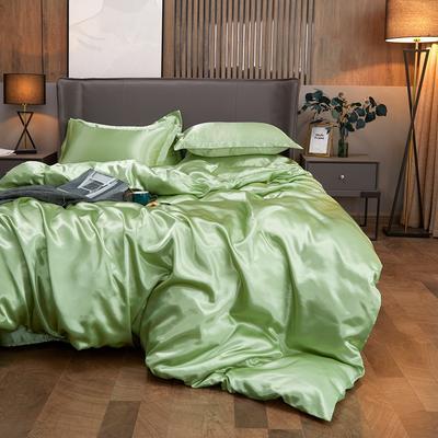 2020夏季新款-水洗冰丝真丝单床单 可供跨境亚马逊等 170cmx230cm 琥珀绿