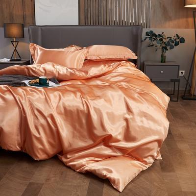 2020夏季新款-水洗冰丝真丝单床单 可供跨境亚马逊等 170cmx230cm 姜黄色