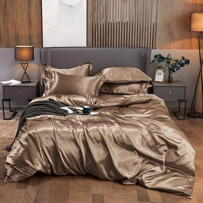 2020夏季新款-水洗冰丝真丝单床单 可供跨境亚马逊等 170cmx230cm 香槟金