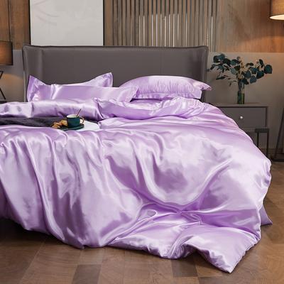 2020夏季新款-水洗冰丝真丝单床单 可供跨境亚马逊等 170cmx230cm 香芋紫