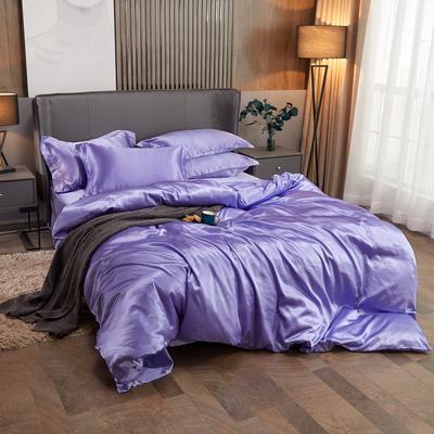 2020夏季新款-水洗冰丝真丝单床单 可供跨境亚马逊等 170cmx230cm 雪青色