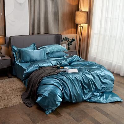 2020夏季新款-水洗冰丝真丝单床单 可供跨境亚马逊等 170cmx230cm 月光蓝