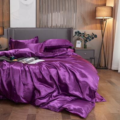 2020夏季新款-水洗冰丝真丝单床单 可供跨境亚马逊等 170cmx230cm 紫罗兰