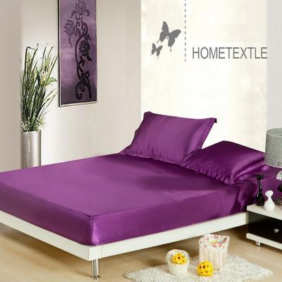 2020新款-冰丝真丝单床笠 120cmx200cm 紫色