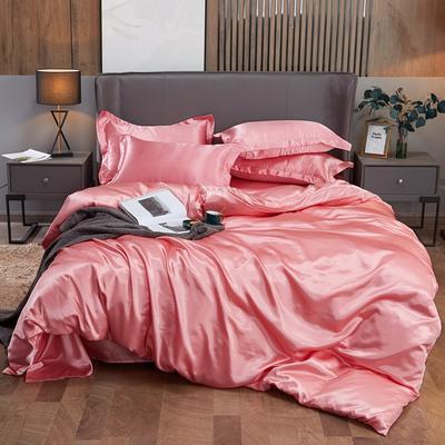 2020夏季新款-水洗冰丝真丝可供跨境亚马逊等冰丝四件套床笠款 床笠款三件套1.2m(4英尺)床 玉色