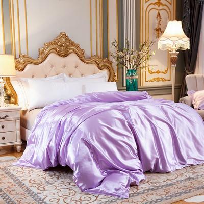 2020新款升级好面料水洗冰丝真丝单被套 150x200cm 香芋紫