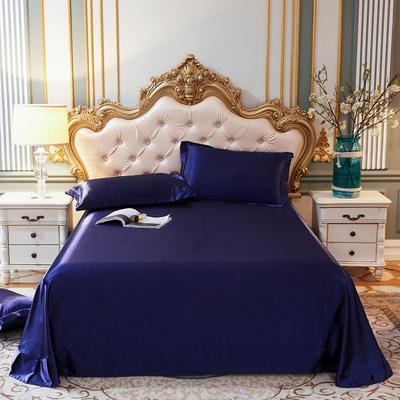 2020新款升级好面料水洗冰丝真丝单床单 230cm*250cm 藏青色