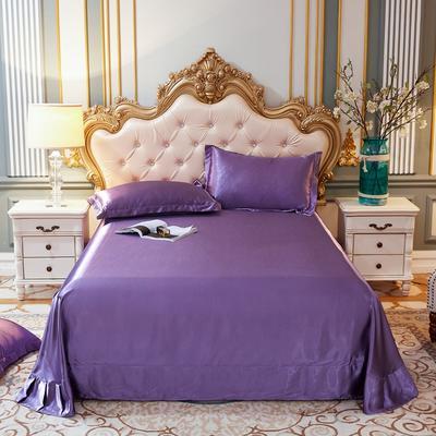 2020新款升级好面料水洗冰丝真丝单床单 230cm*250cm 典雅紫