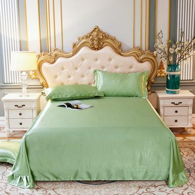 2020新款升级好面料水洗冰丝真丝单床单 230cm*250cm 琥珀绿