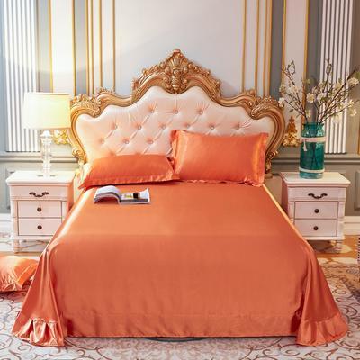 2020新款升级好面料水洗冰丝真丝单床单 230cm*250cm 橘色