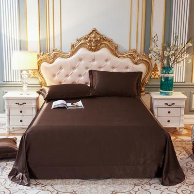 2020新款升级好面料水洗冰丝真丝单床单 230cm*250cm 咖啡色