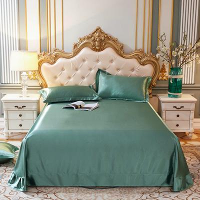 2020新款升级好面料水洗冰丝真丝单床单 230cm*250cm 抹茶绿