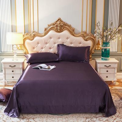 2020新款升级好面料水洗冰丝真丝单床单 230cm*250cm 水晶紫