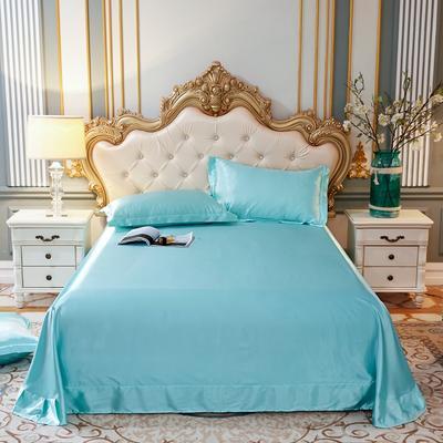 2020新款升级好面料水洗冰丝真丝单床单 230cm*250cm 天之蓝