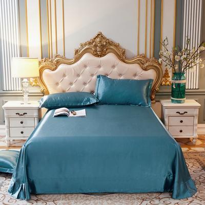 2020新款升级好面料水洗冰丝真丝单床单 230cm*250cm 月光蓝