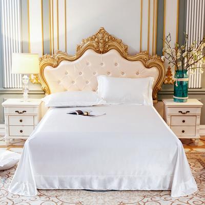2020新款升级好面料水洗冰丝真丝单床单 230cm*250cm 珍珠白