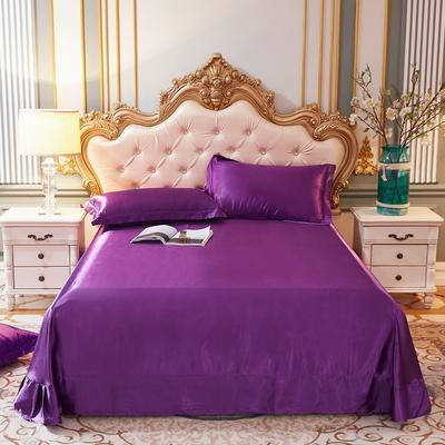 2020新款升级好面料水洗冰丝真丝单床单 230cm*250cm 紫罗兰