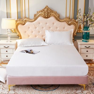 2020新款-好面料冰丝真丝单床笠 150cmx200cm 珍珠白