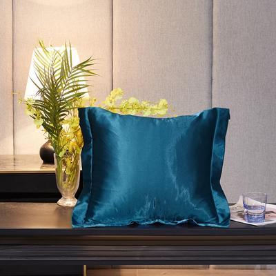 2020新款-升级好面料水洗冰丝真丝单方垫套抱枕套 45X45cm 巴黎蓝