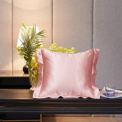 2020新款-升级好面料水洗冰丝真丝单方垫套抱枕套 45X45cm 淡雅玉